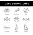 gene engineering icons set with an editable stroke vector image vector image
