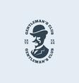 gentleman logo vector image vector image