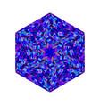 geometrical abstract tiled mosaic polygon logo vector image vector image