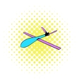 Glider icon comics style vector image vector image