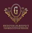 golden monogram template in splendid floral vector image vector image
