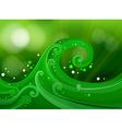 Green gradient design vector image