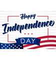 happy independencel day 4 july light banner vector image vector image