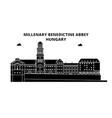 hungary millenary benedictine abbey travel vector image vector image