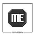 initial letter me logo template design vector image