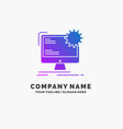 internet layout page site static purple business vector image vector image
