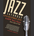 jazz festival poster 5 vector image vector image