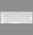 laptop keyboard computer isolated white key button vector image