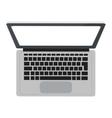 laptop topview icon vector image vector image