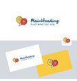love balloons logotype with business card vector image vector image