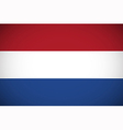 national flag netherlands vector image vector image