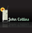 official cocktail icon the unforgettable john vector image vector image