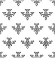 ornamental floral luxury element pattern vector image