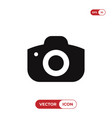 photo camera icon isolated on white background vector image vector image