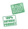 Realistic 100 Natural Product rubber stamp vector image vector image