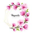 realistic magnolia flower vector image vector image