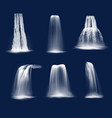 realistic waterfalls or water fall cascades vector image