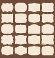 retro blank paper label shapes vintage elegant vector image vector image