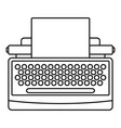 round button typewriter icon outline style vector image