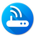 router blue circle icon design vector image vector image