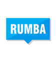 rumba price tag vector image vector image
