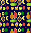 seamless pattern of tropical fruit vector image vector image