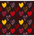 Seamless pattern with grunge hearts vector image vector image