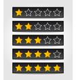 set black rating stars vector image