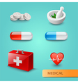 set medical icons and symbols vector image