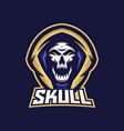 skull esport gaming mascot logo template for vector image vector image