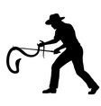 snake catcher silhouette vector image vector image