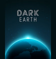 solar eclipse planet earth space horizon earth vector image