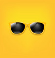 summer sunglasses with orange poster vector image vector image