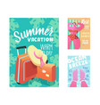 summer vacation poster flyer invitation template vector image vector image
