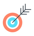 target icon successful shoot goal sign concept vector image vector image
