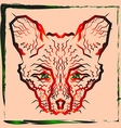 The zigzag path of the muzzle foxes vector image vector image