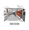 train station sketch for your design vector image