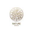 tropical plant logo vector image vector image