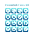 Universal set of icons vector image vector image