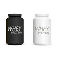 whey protein black and white bottles set sports vector image vector image
