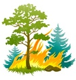 wildfire disaster vector image vector image