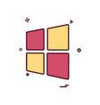 windows icon design vector image
