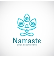 Yoga Namaste or Zen Meditation Abstract vector image