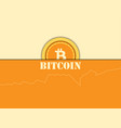 cryptocurrency bitcoin coin diagram blocking vector image