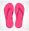 cartoon pink beach slippers vector image
