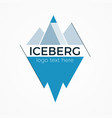 iceberg logo concept vector image