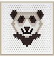 Mosaic Panda vector image
