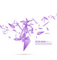 abstract background with dynamic fragments vector image vector image