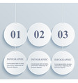 Abstract numeric circles infographic hanging