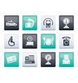 airport travel and transportation icons 2 vector image vector image